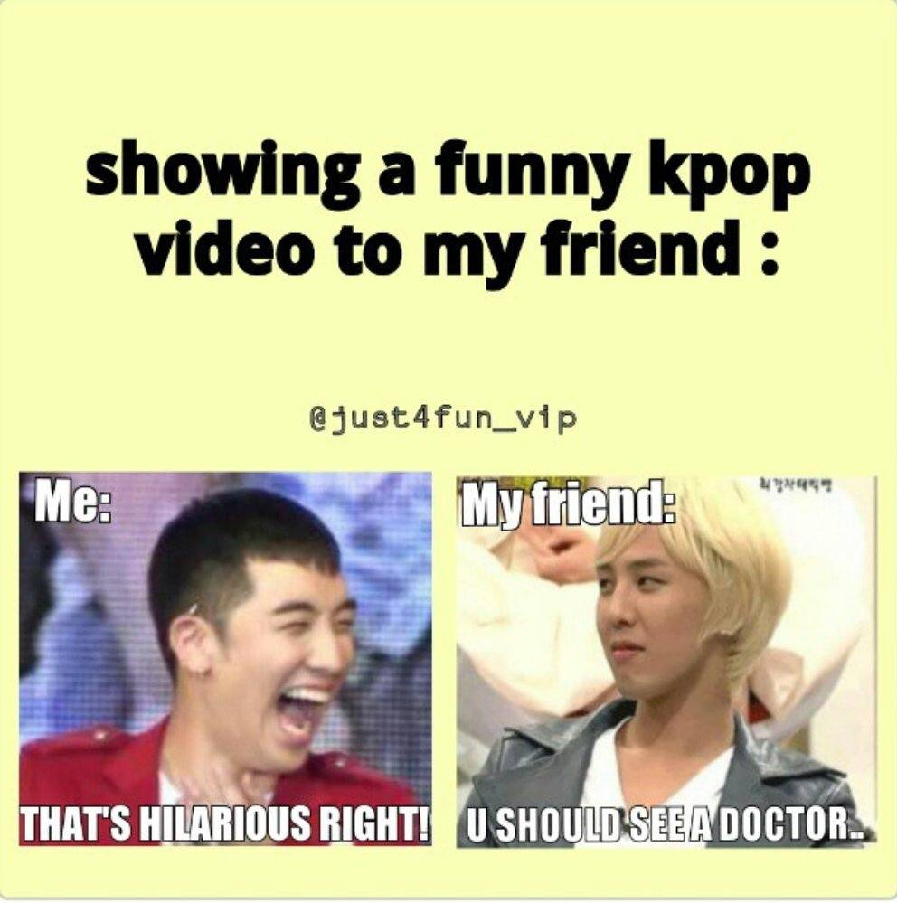 Showing A Funny KPop Video
