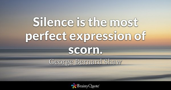 Silence Is The Most Perfect