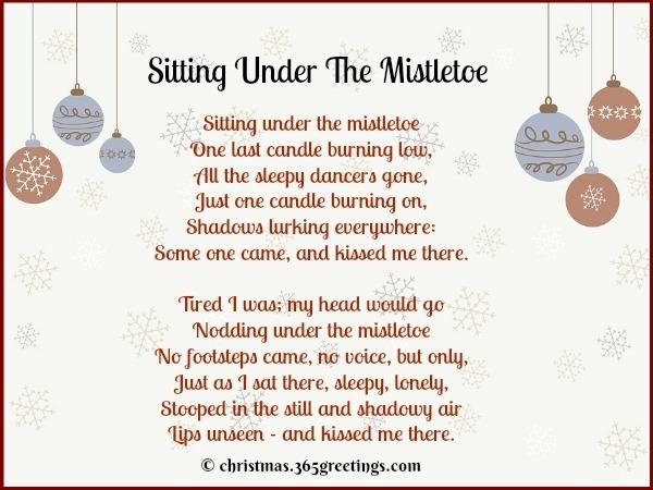 Sitting Under The Mistletoe