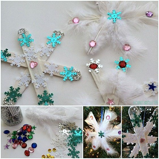 Snowflakes Collage Square