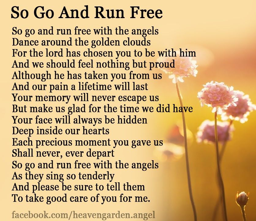So Go and Run Free