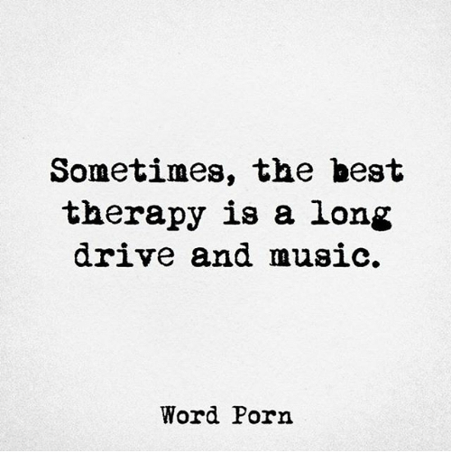 Sometimes The Best Therapy