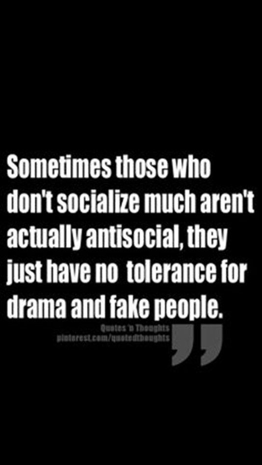 Sometimes Those Who Don't Socialize