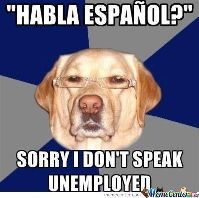 Sorry I Don't Speak Unemployed