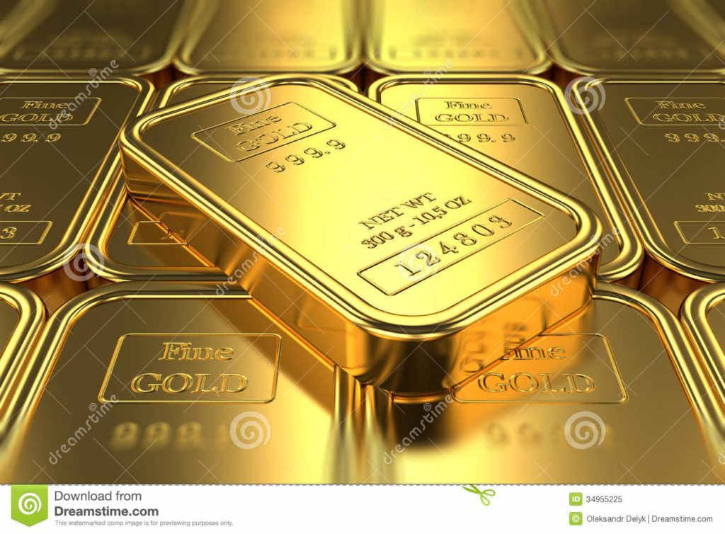 Stack Gold Bars Banking