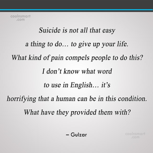 Suicide Is Not All That Easy