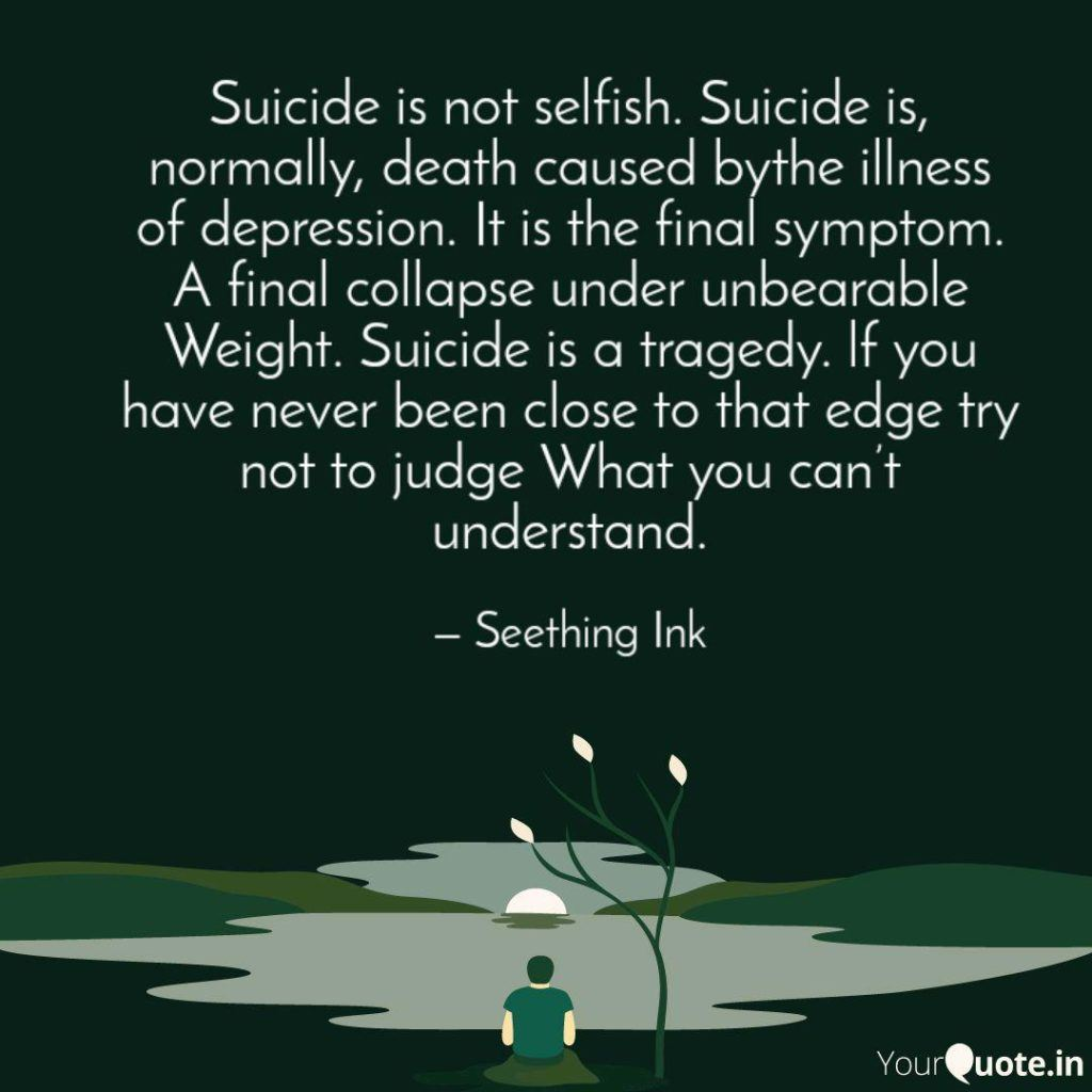 Suicide Is Not Selfish