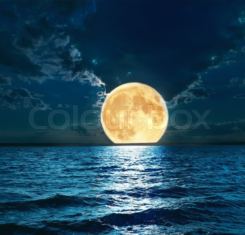 Super Moon Over Water