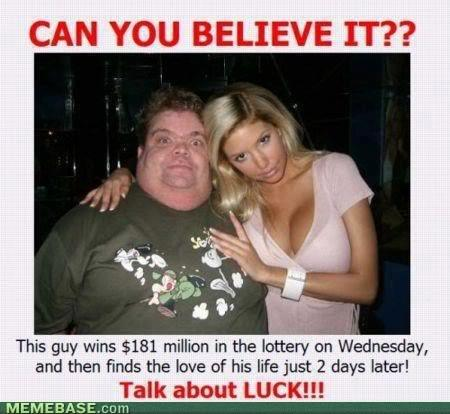 Talk about luck