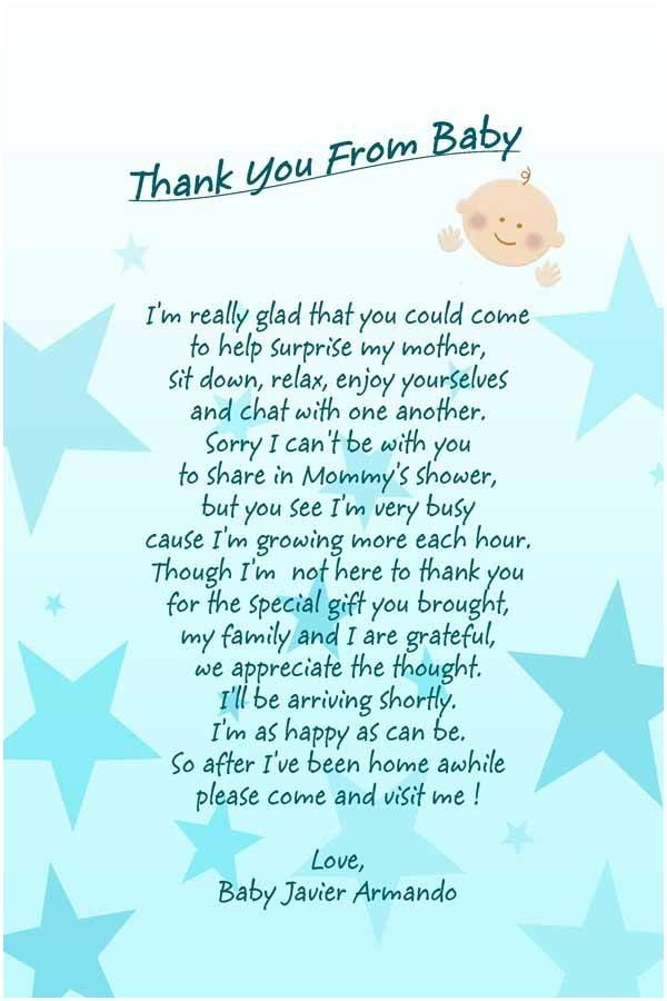 Thank you from baby