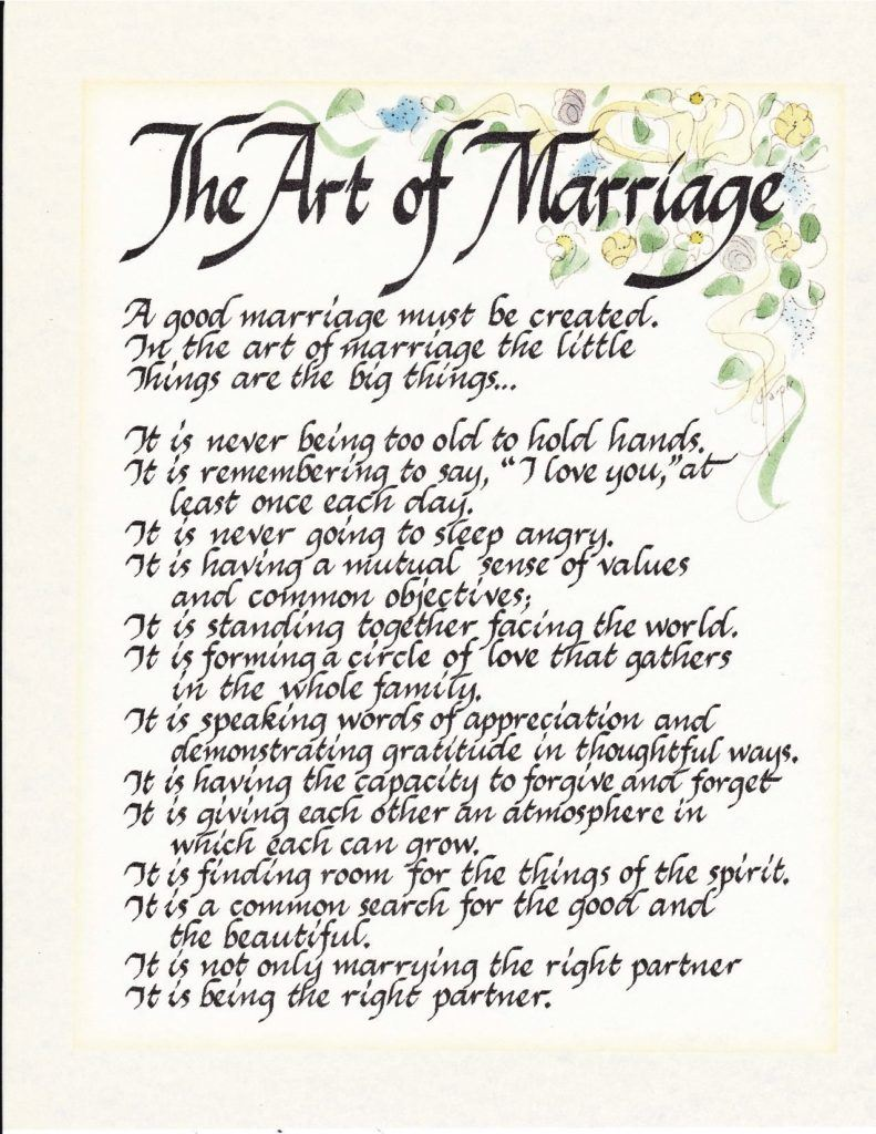 The Art of Marriage