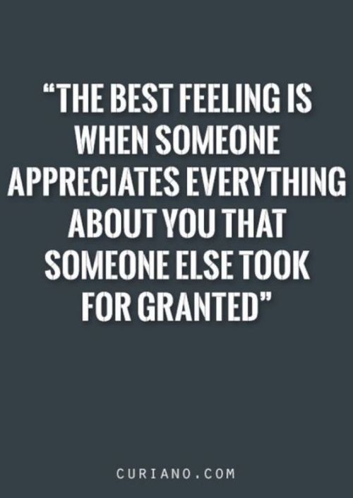 The Best Feeling Is When Someone