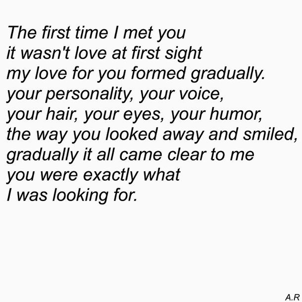The First Time I Met You