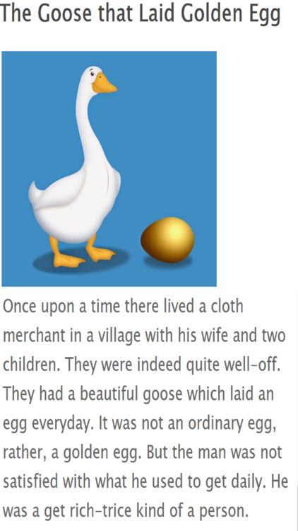 The Goose That Laid Golden Egg