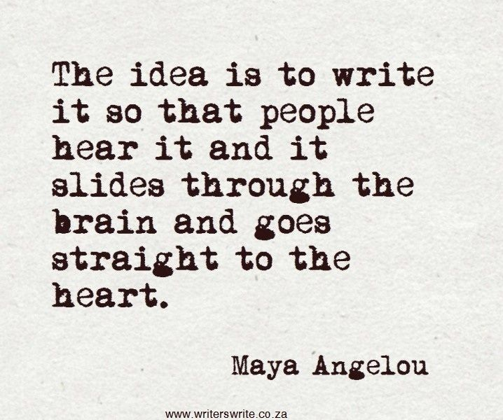 The Idea Is To Write
