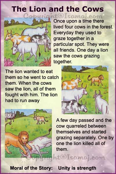 The Lion And The Cows