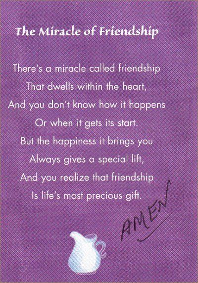 The Miracle of Friendship