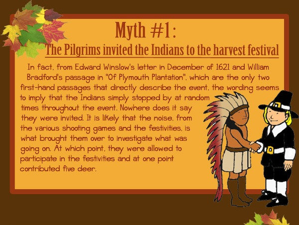 The Pilgrims Invited The Indians