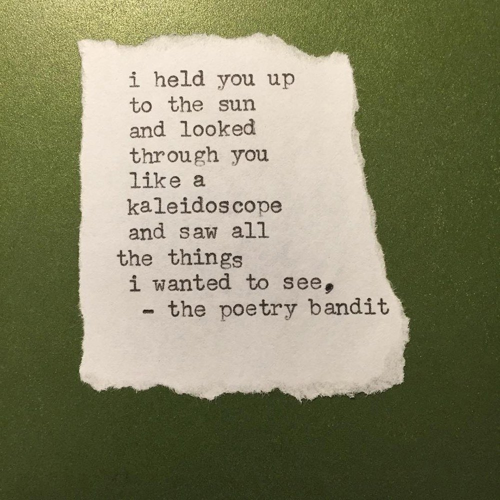 The Poetry Bandit