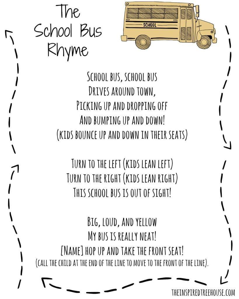 The School Bus Rhyme