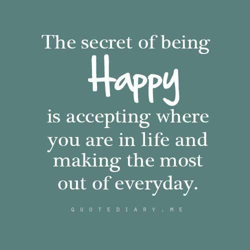 The Secret Of Being Happyq
