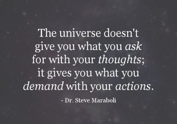 The Universe Doesn't Give You