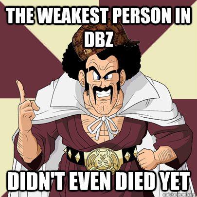 The Weakest Person In DBZ