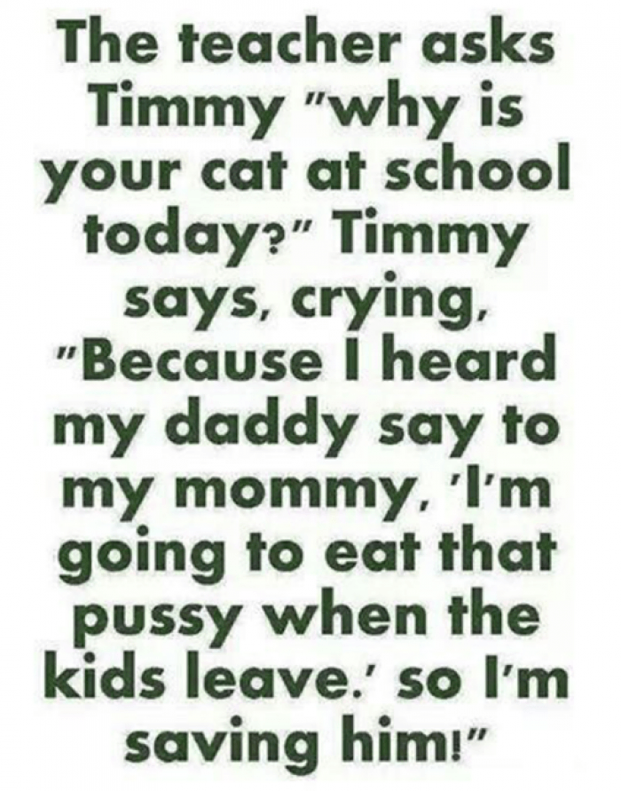 The teacher ask timmy