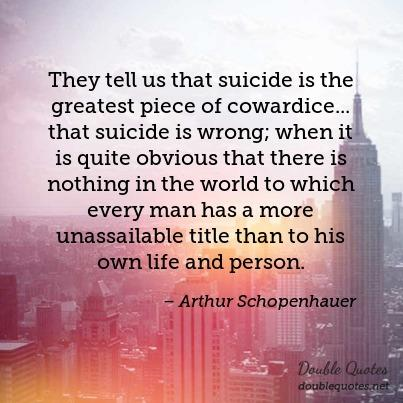 They Tell Us That Suicide