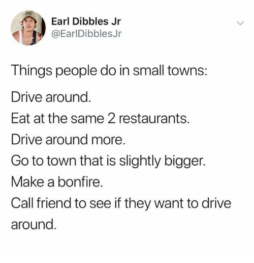 Things People Do In Small Towns