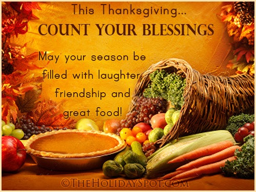 This Thanksgiving Count Your Blessings