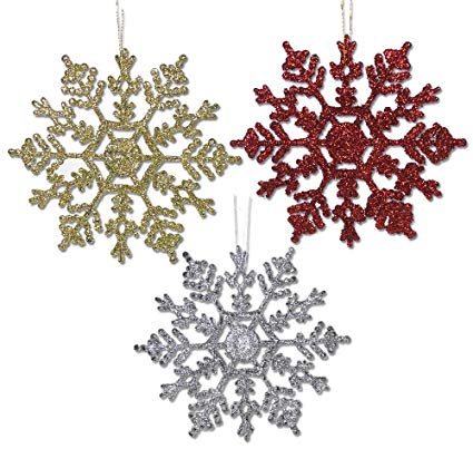 Three Glitter Snowflake