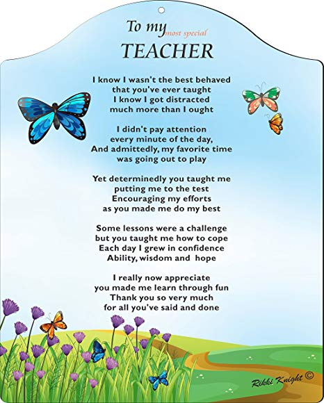 To My Most Special Teacher