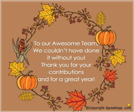 To Our Awesome Team