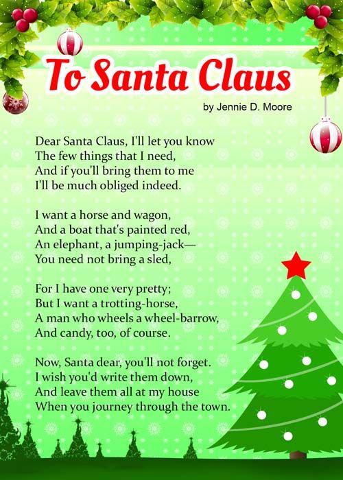 To Santa Claus
