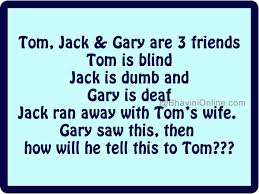 Tom, Jack And Gary Are Friends