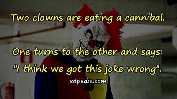 Two Clowns Are Eating