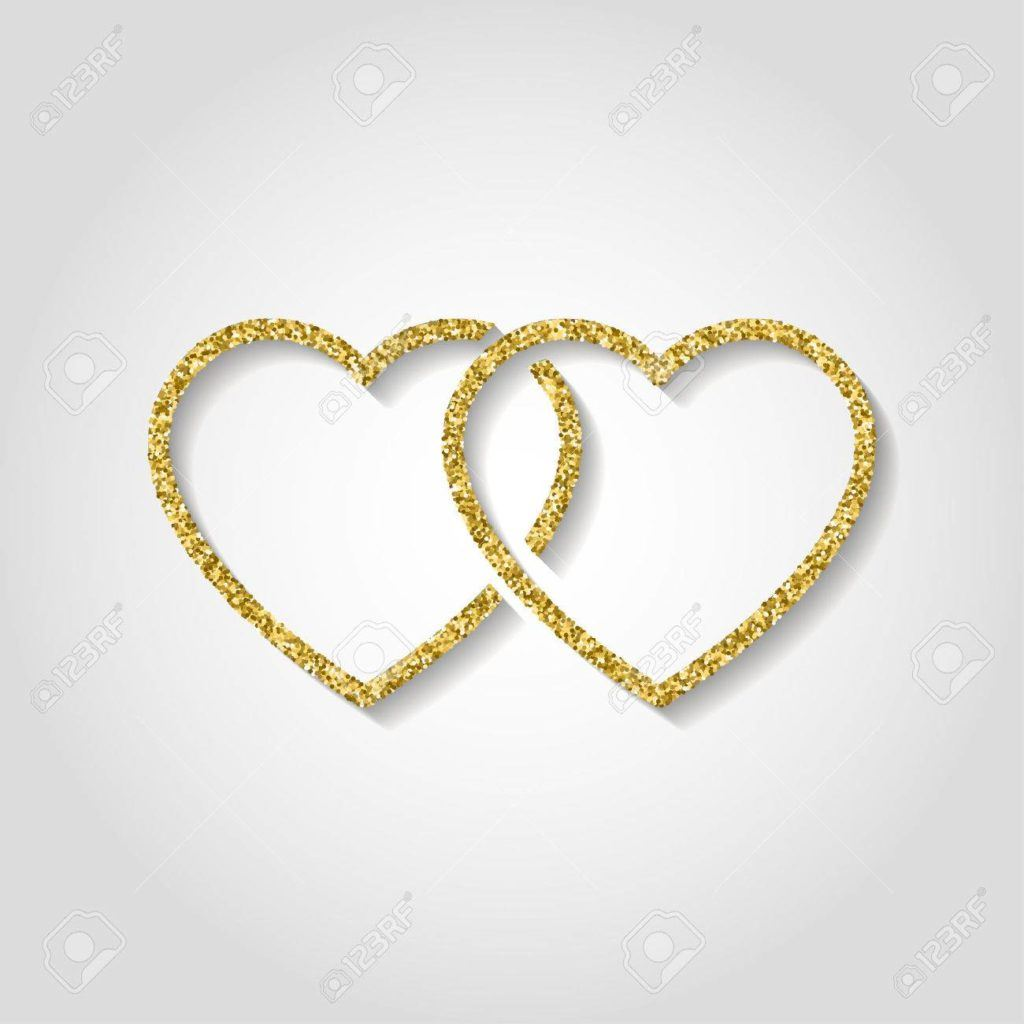 Two Gold Heart