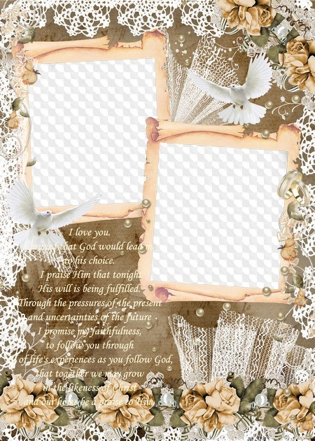 Vintage Wedding Frame For Photo