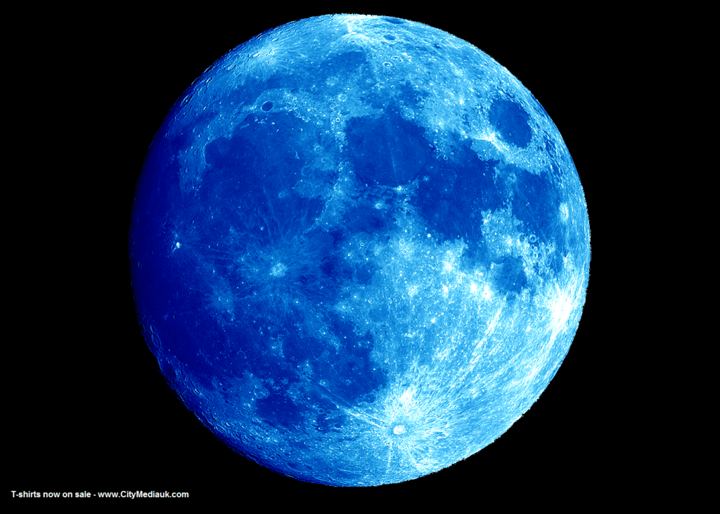 Wallpaper Blue Moon