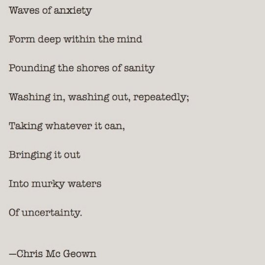 Waves of anxiety