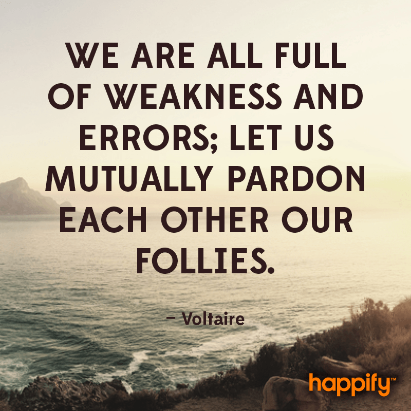 We Are All Full Of Weakness