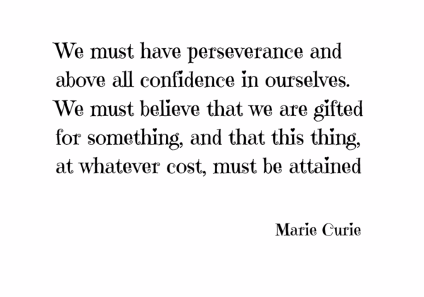 We Must Have Perseverance