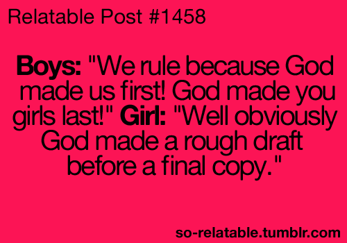 We Rule Because God Made Us First