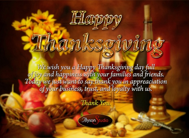 We Wish You A Happy Thanksgiving Day