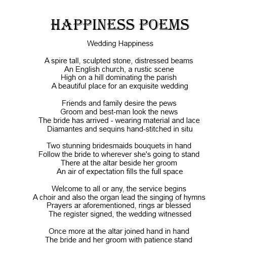 Wedding Happiness