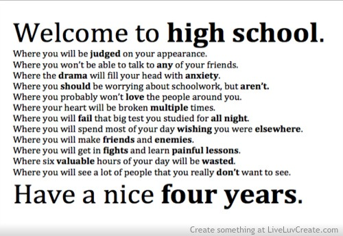 Welcome To High School