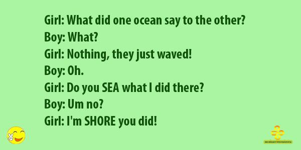 What Did One Ocean Say