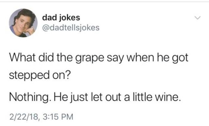 What Did The Grape Say