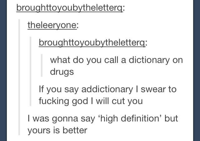 What Do You Call A Dictionary On Drugs